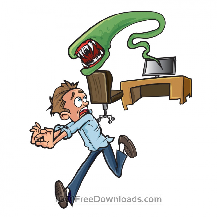Free Vectors: Computer alien illustration | Cartoons