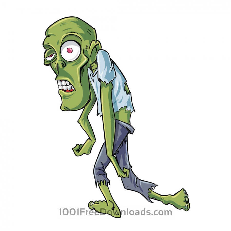 Free Vectors: Twisted zombie character | Holidays
