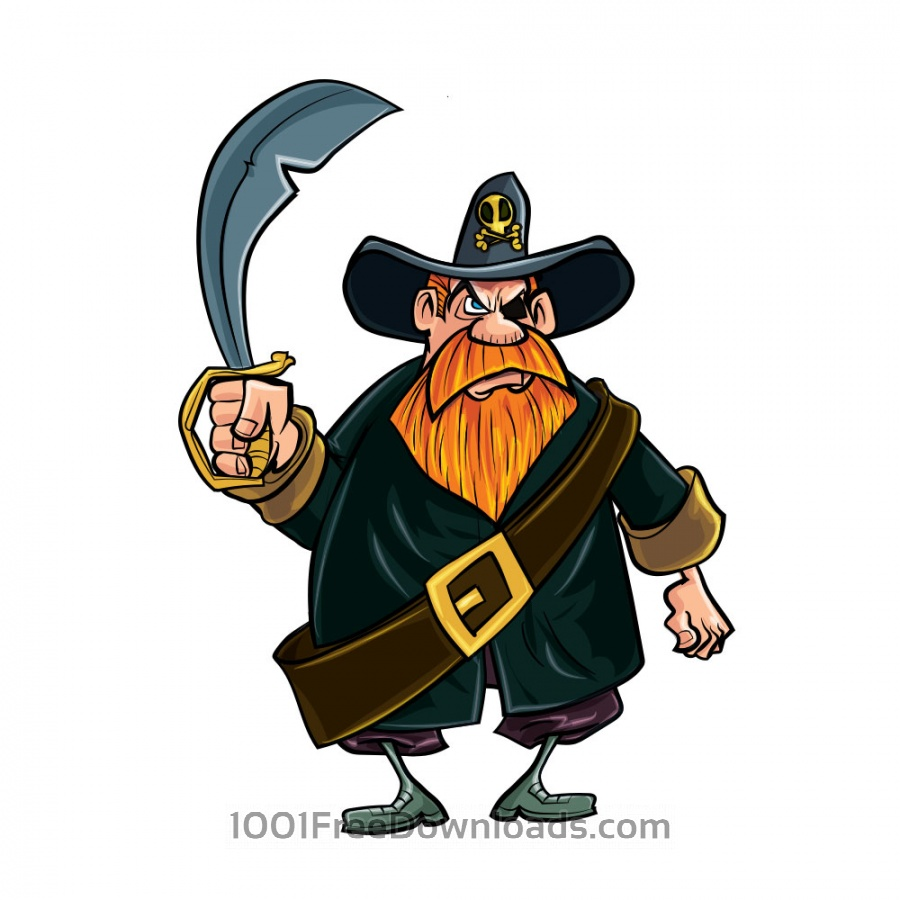 Free Vectors: Pirate with knife | People