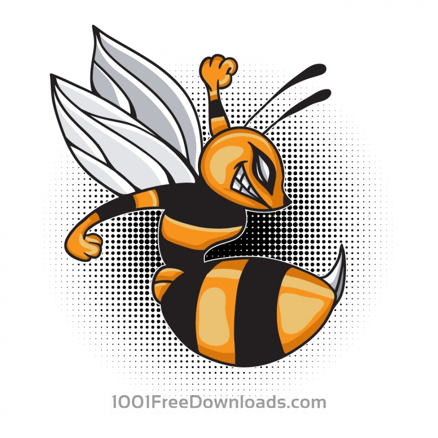 Free Vectors: Cartoon vector bee | Animals