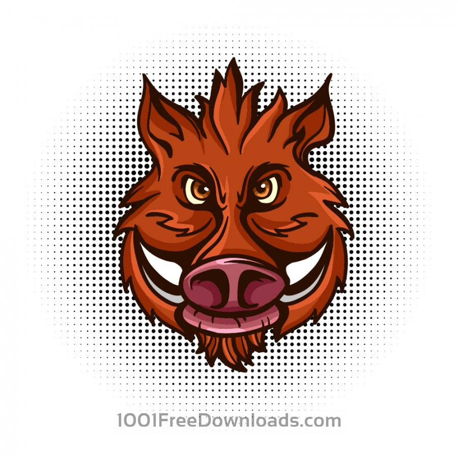 Free Vector wild boar head