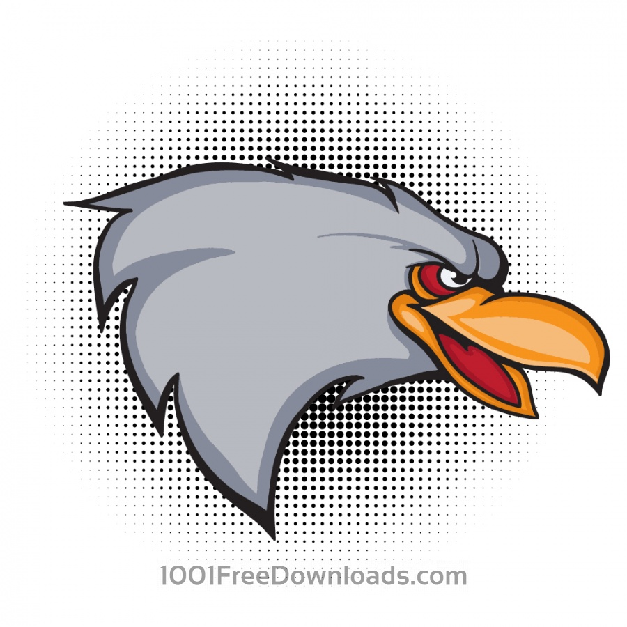 Free Cartoon vector eagle head