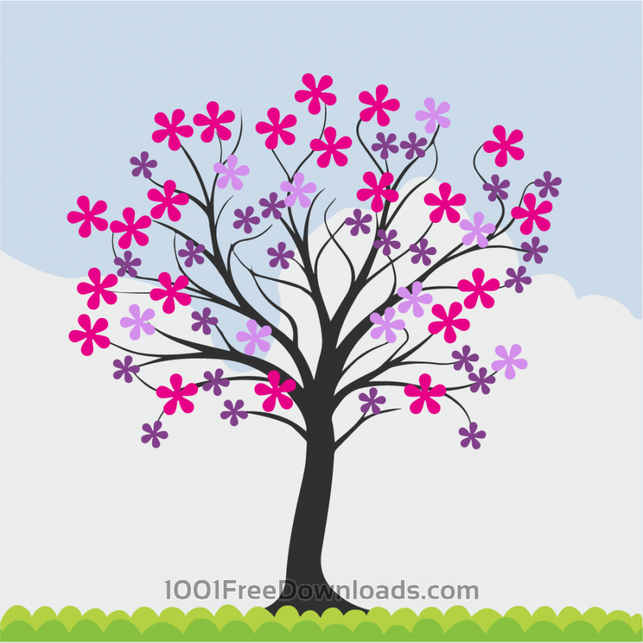 Free Vectors: Flowering spring tree | Flowers
