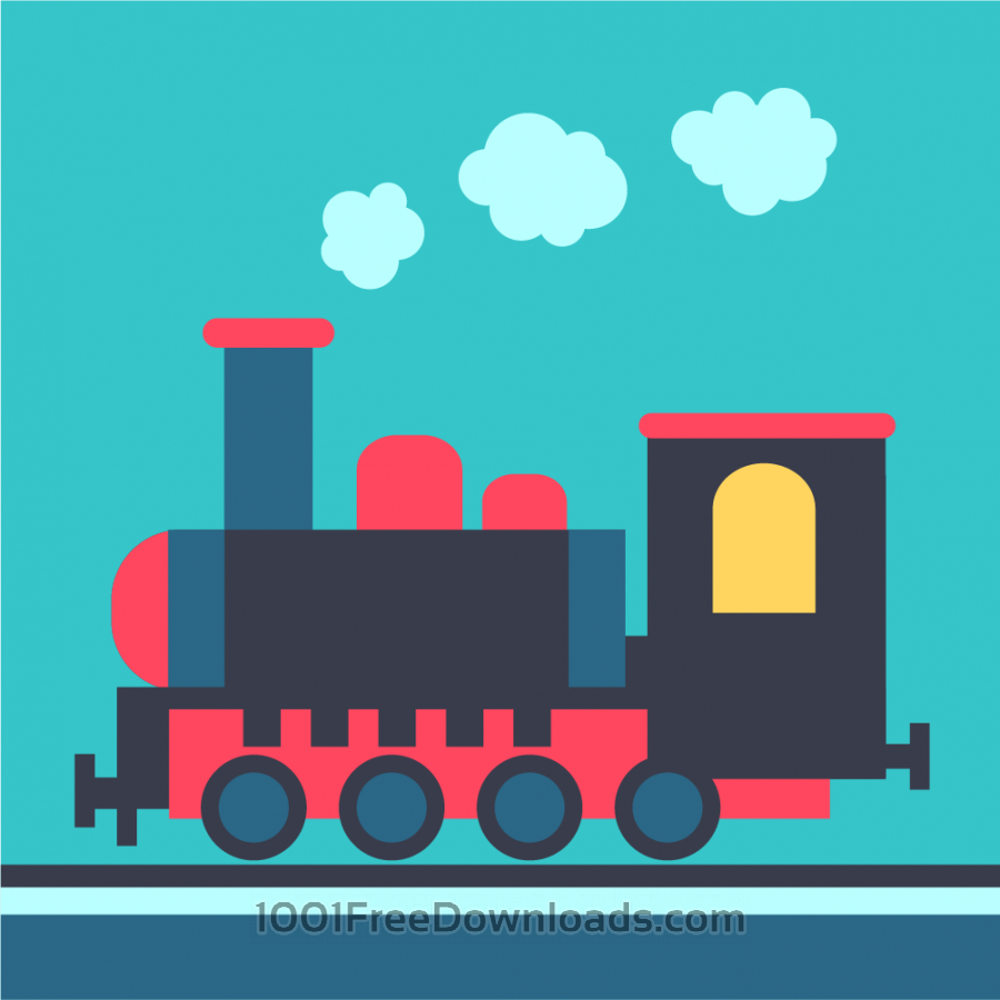 Free Steam locomotive on rails