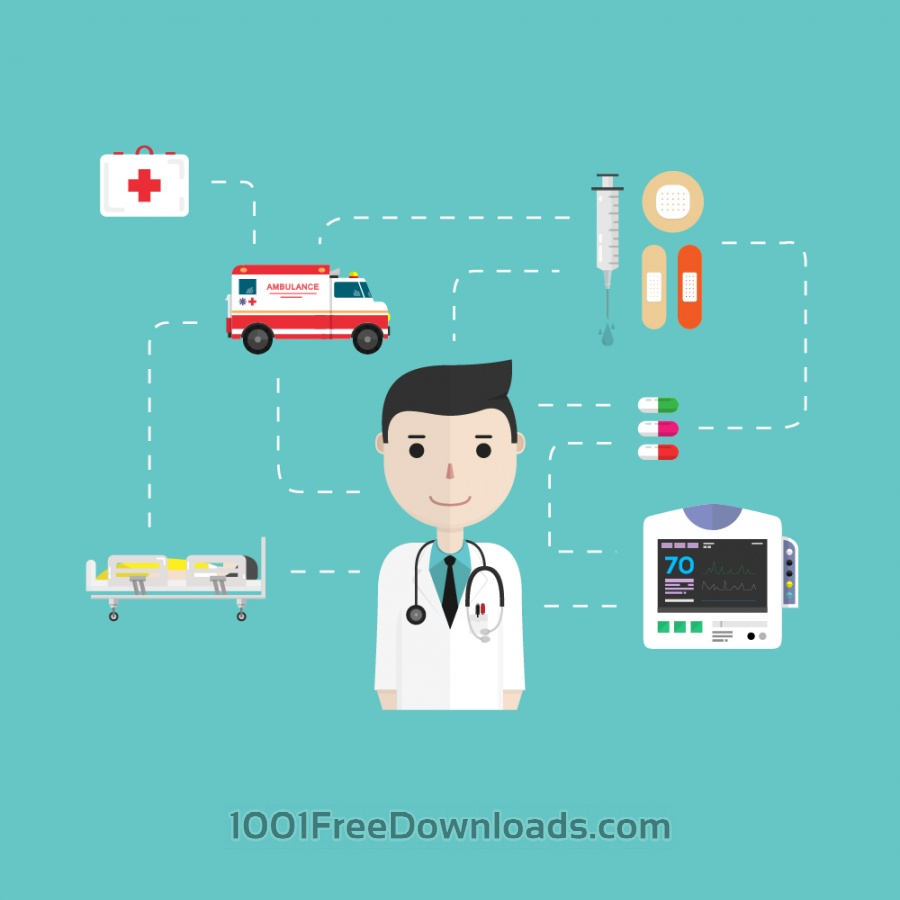 Free Medical icons in flat style