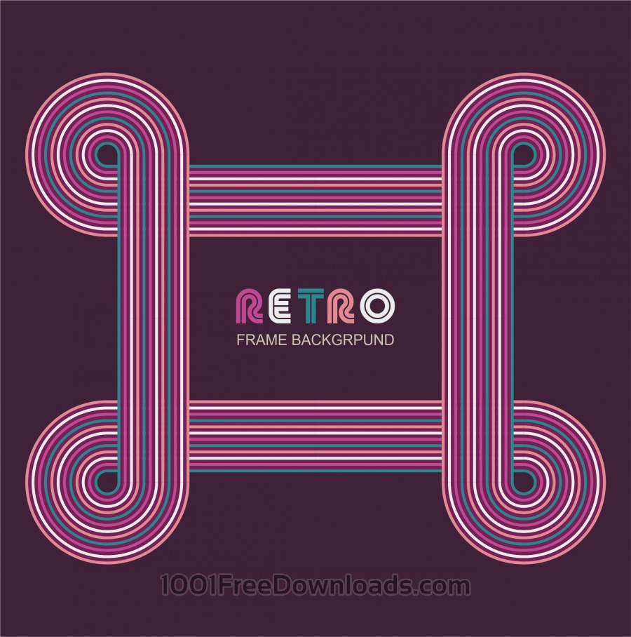 Free Vectors: Retro frame background | Art