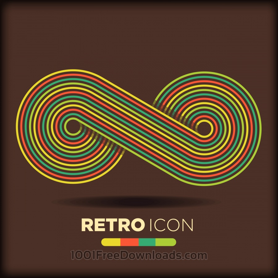 Free Vectors: Retro icon background | Abstract