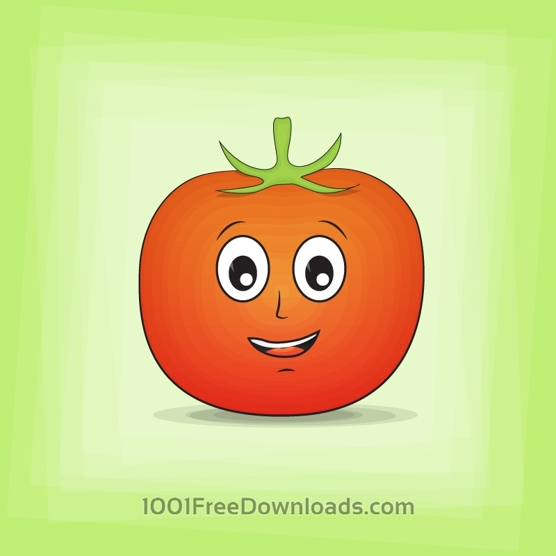 Free Tomato Cartoon Character