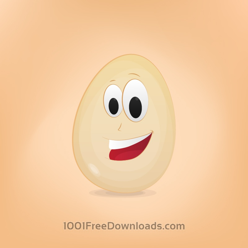 Free Vectors: Egg Cartoon Character | Cartoons