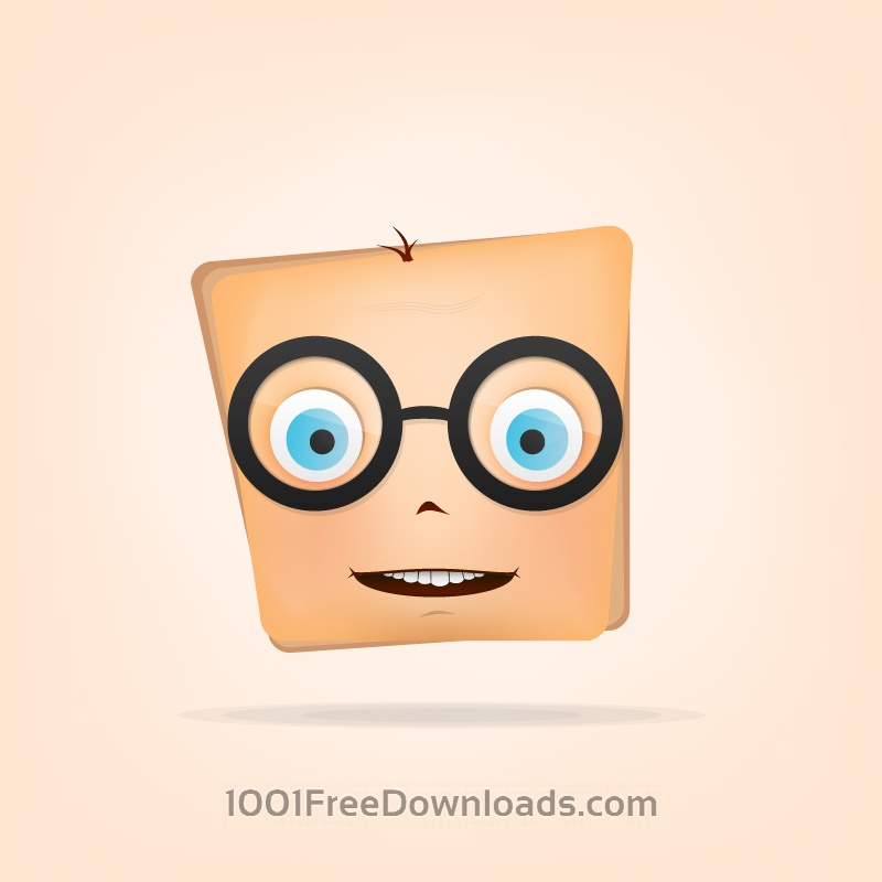 Free Character with Glasses