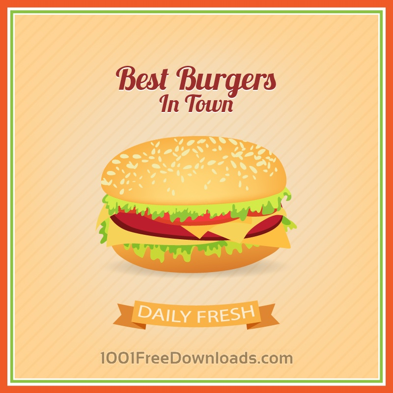 Free Vectors: Burger Illustration | Backgrounds