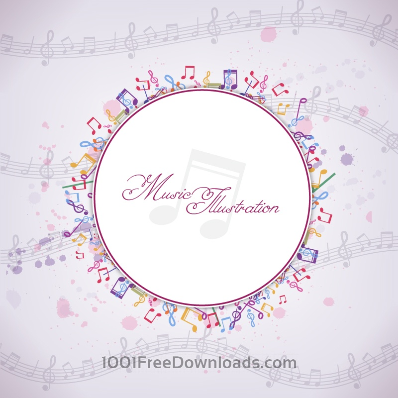 Free Vector Musical Background