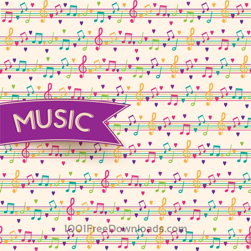 Free Vector Music Background