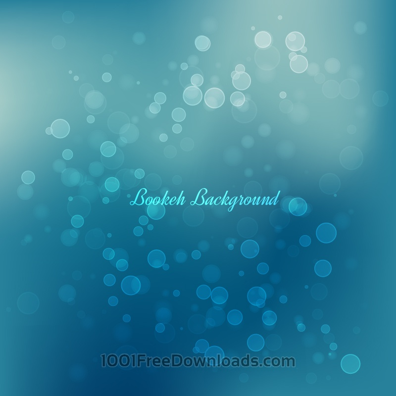 Free Bokeh Vector Background