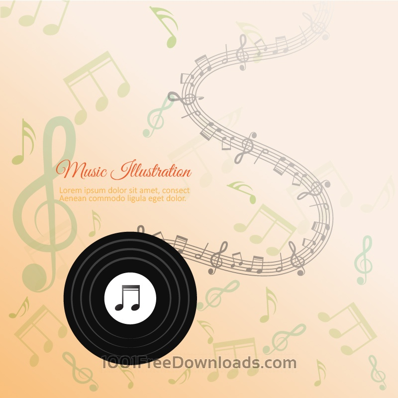 Free Vectors: Abstract Music Background | Abstract
