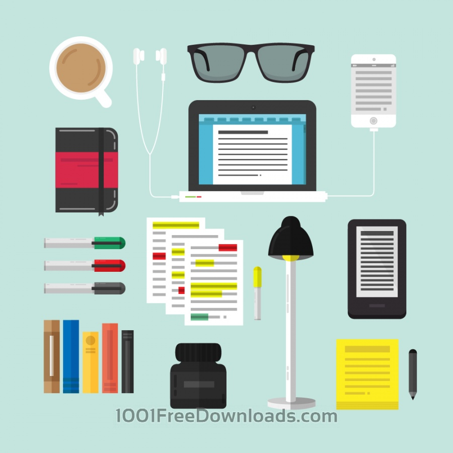 Free Vectors: Writing Tools Pack | Icons
