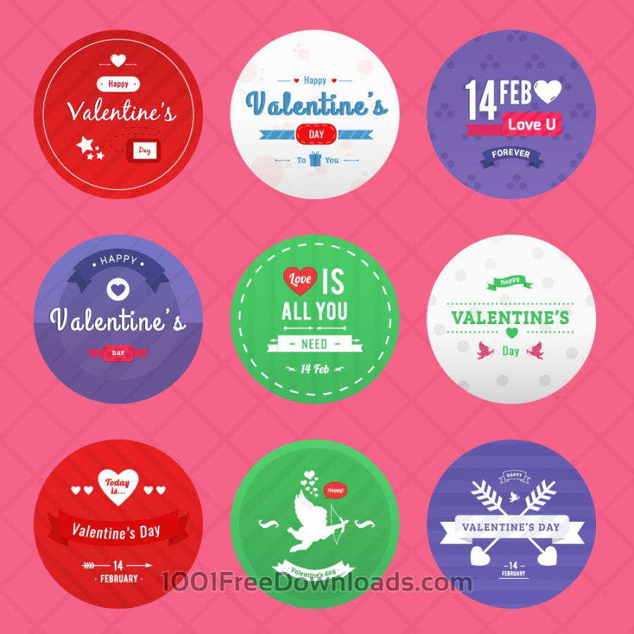 Free Vectors: Valentine's Day Icon Pack | Valentine