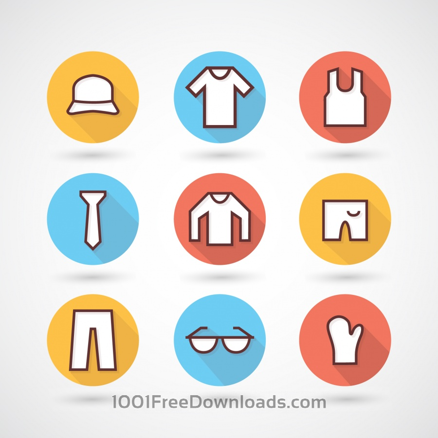 Free Clothing icons set