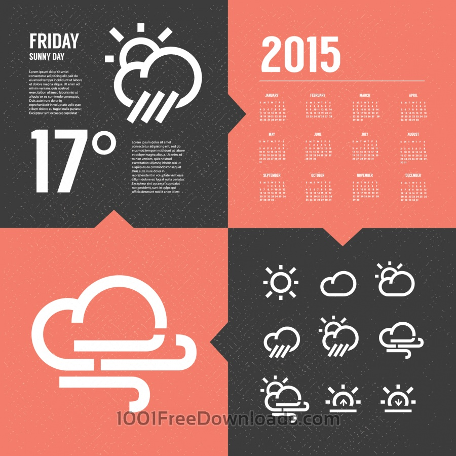 Free Vectors: Weather Background with Icon set | Backgrounds
