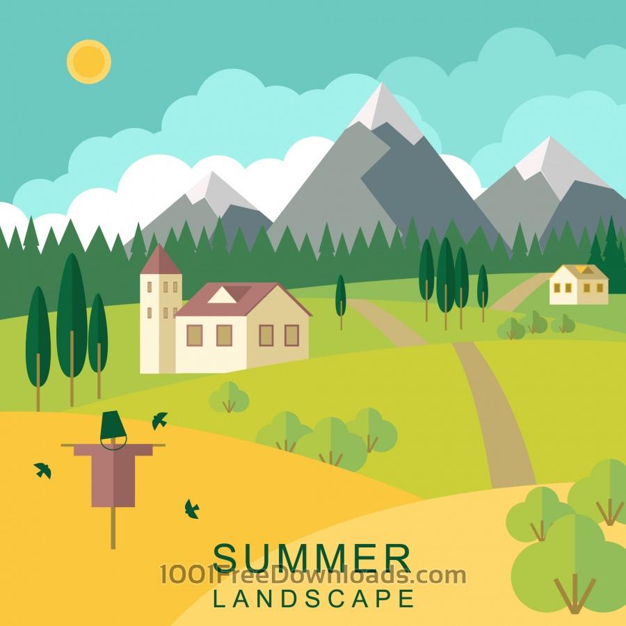 Free Summer landscape