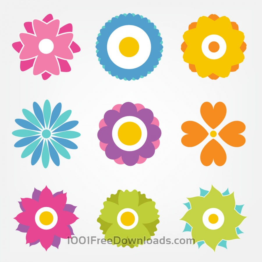 Free Flower vector set