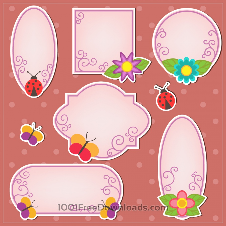 Free Cute doodle frames