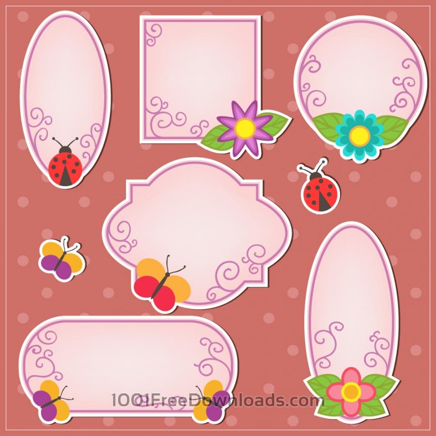 Cute doodle frames