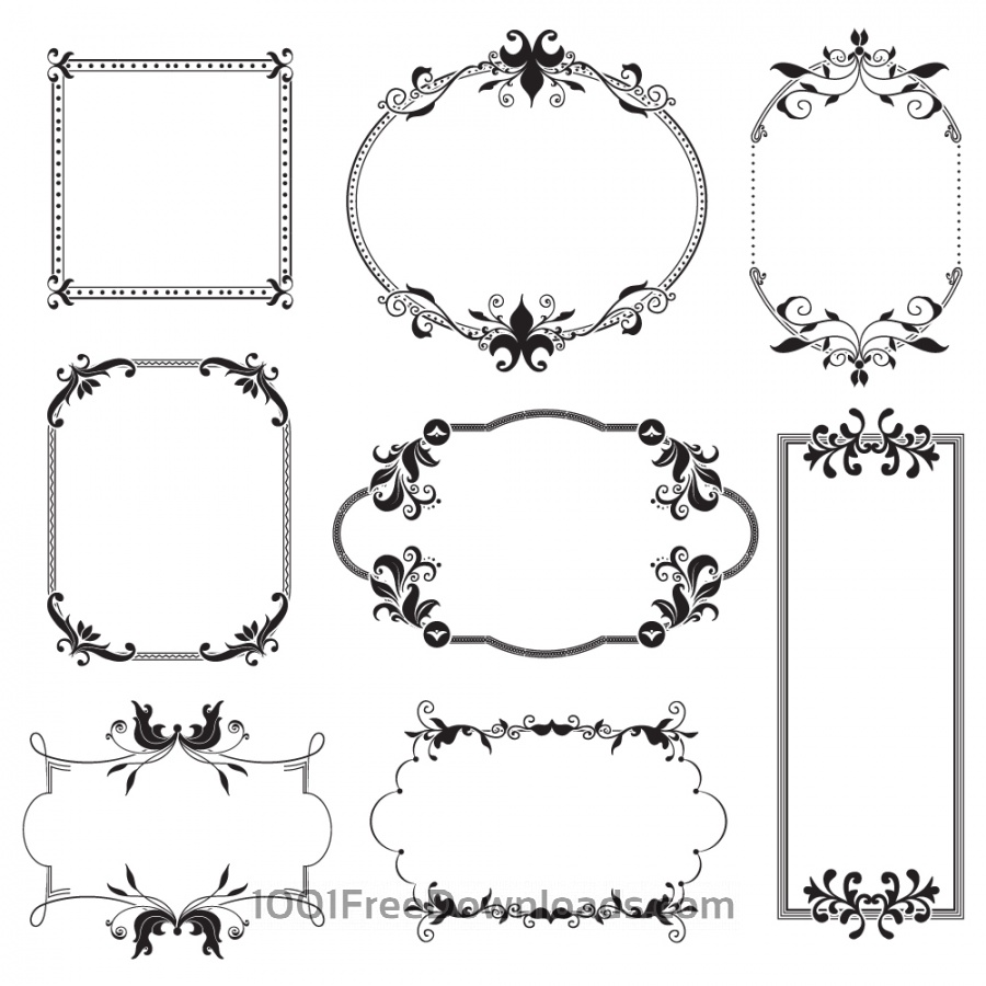 Free Vectors: Vintage frames | Abstract