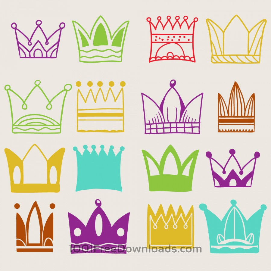 Free Crown vector set