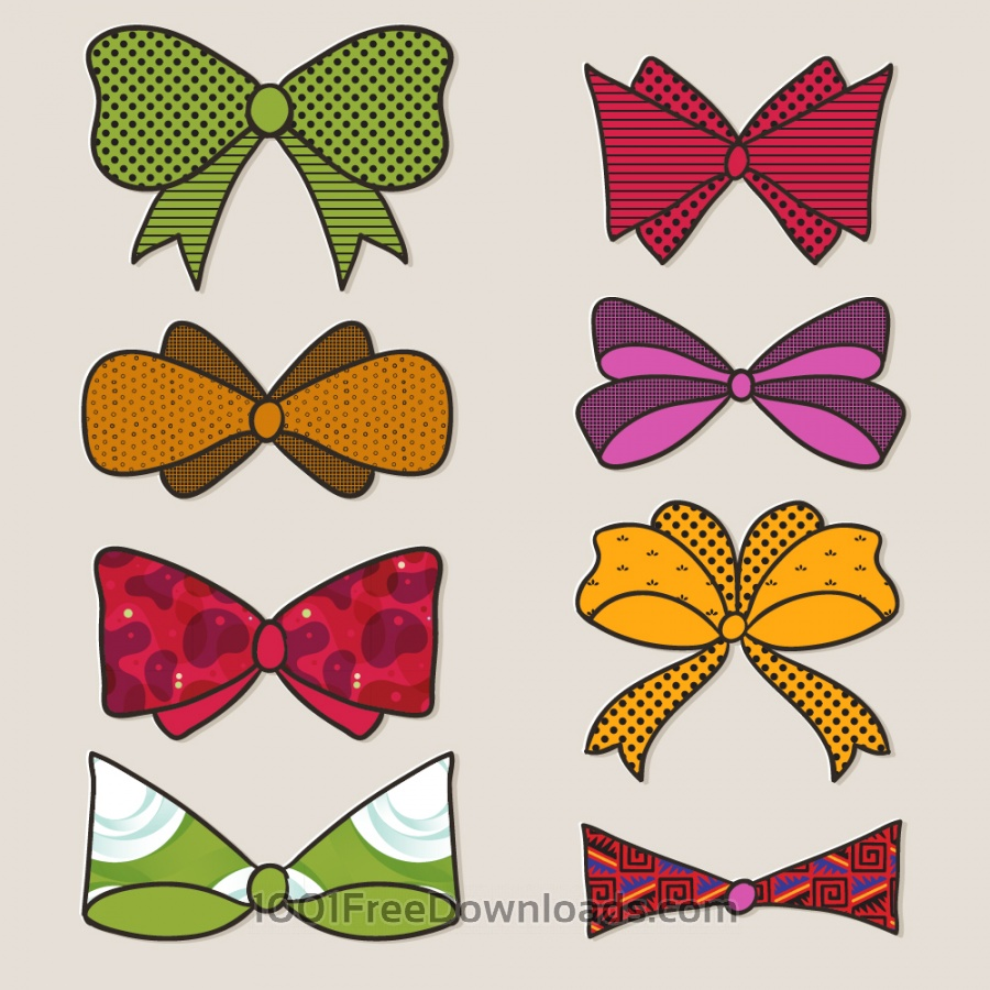 Free Bow vector set