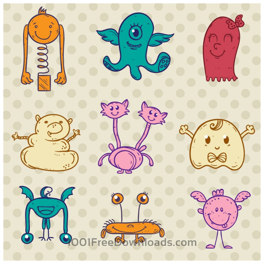 Free Cute monster set
