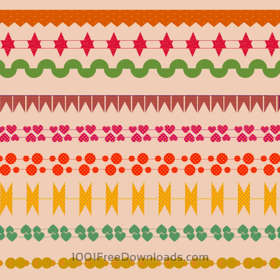 Free Cute border vector set