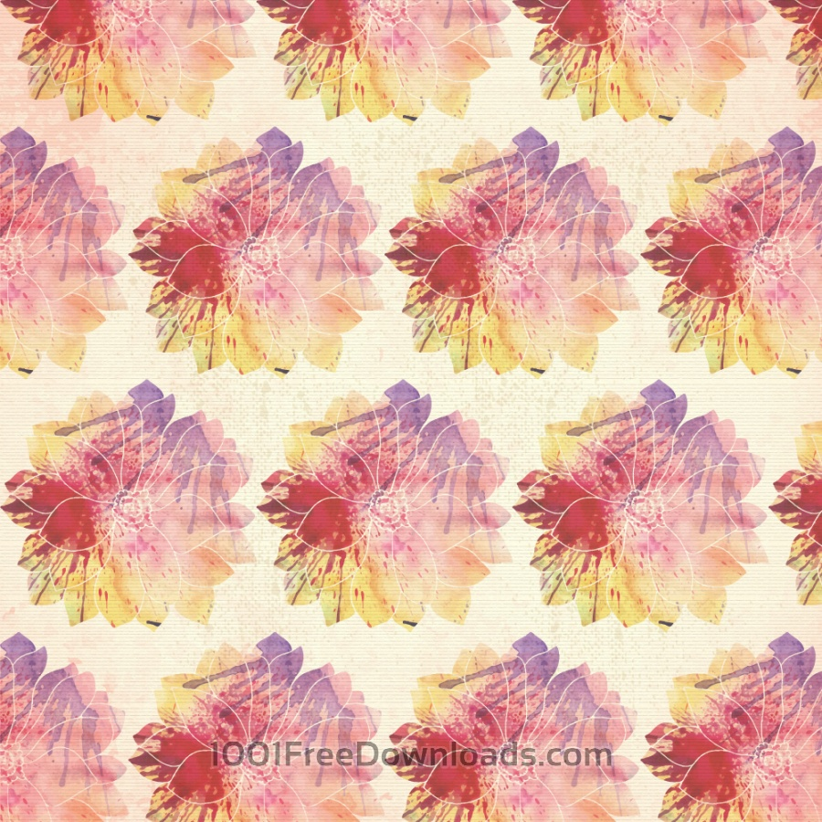 Free Vectors: Watercolor floral pattern | Patterns