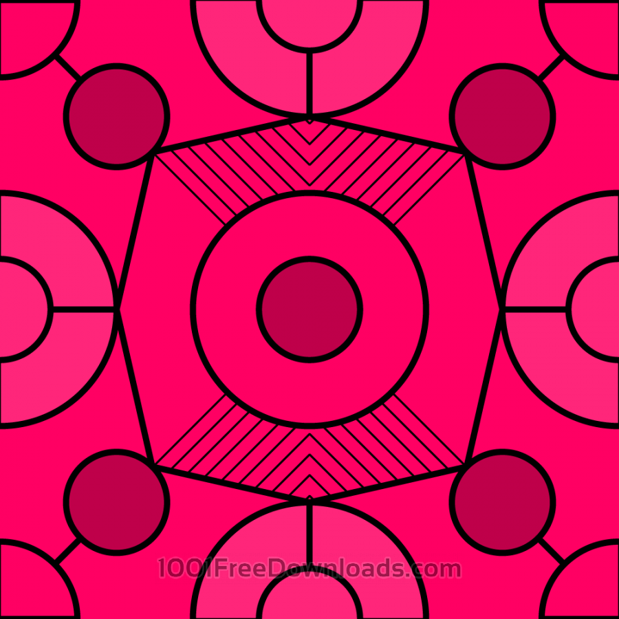 Free Vectors: Geometric Fuchsia Pattern | Abstract