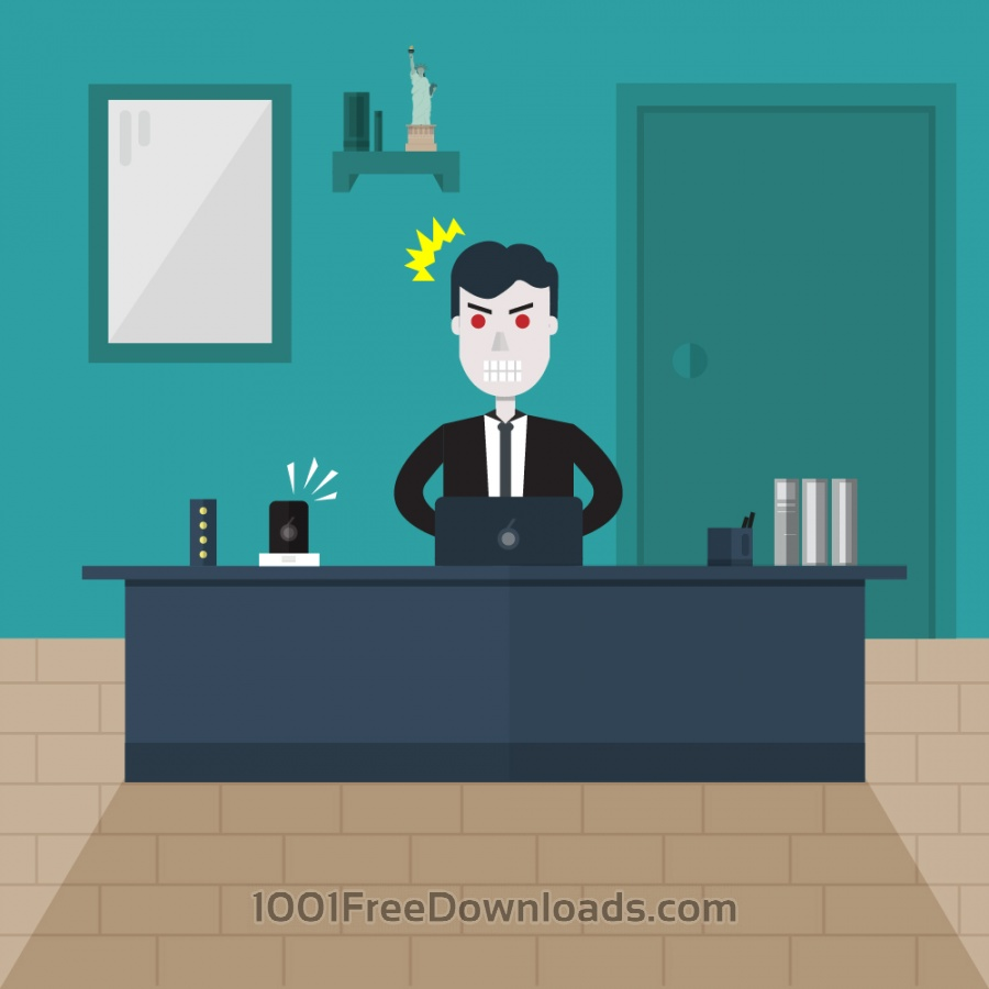 Free Vectors: Angry Man Illustration | Business