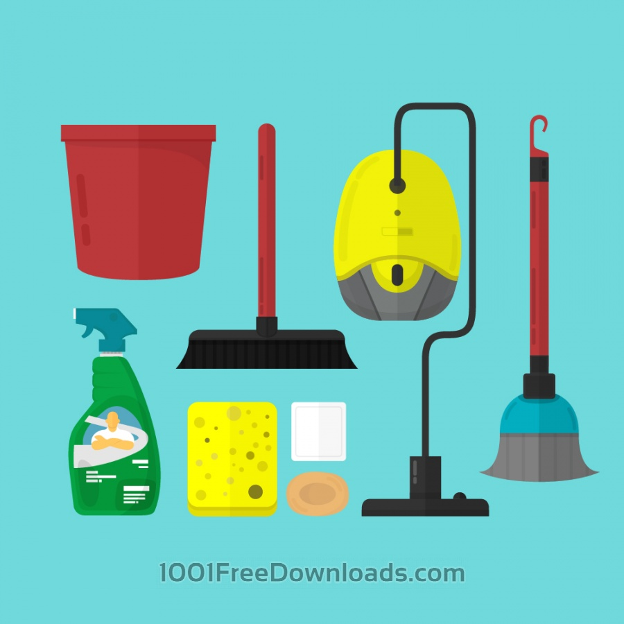 Free Vectors: Cleaning Toolset | Icons