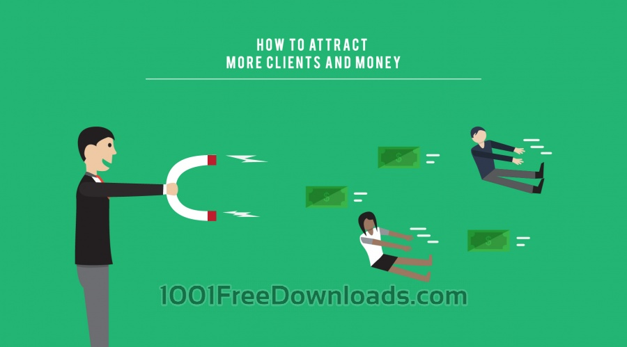Free Vectors: Attract More Clients Illustration | Objects