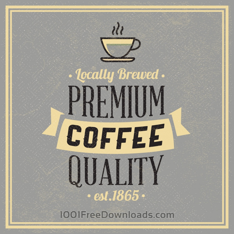 Free Vectors: Retro Vintage Coffee Background with Typography | Backgrounds