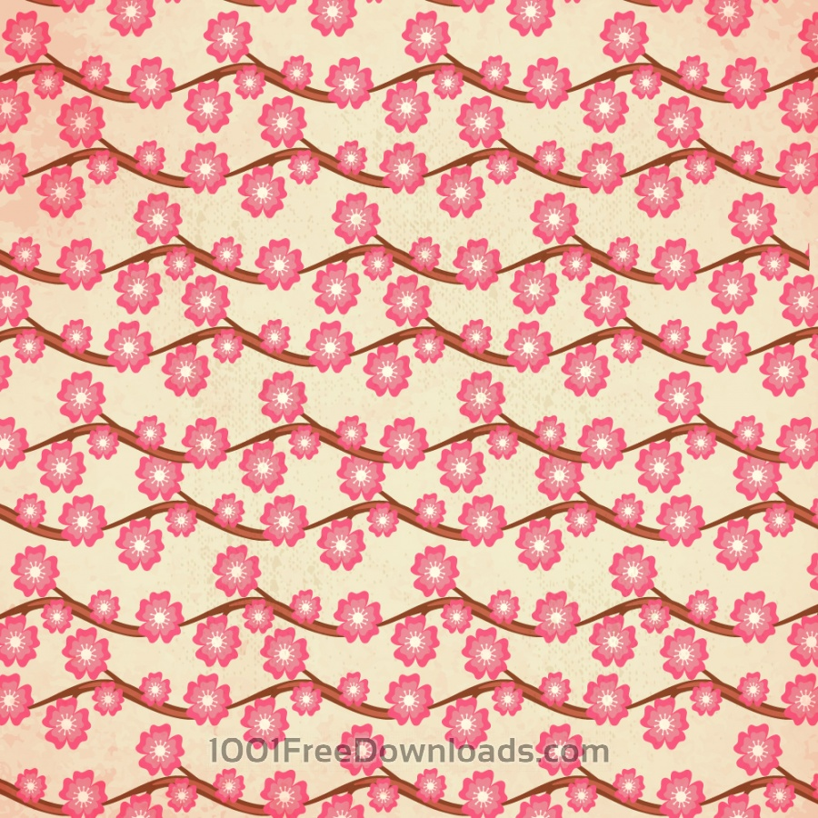 Free Vectors: Japanese patters  with cherry blossom | Abstract