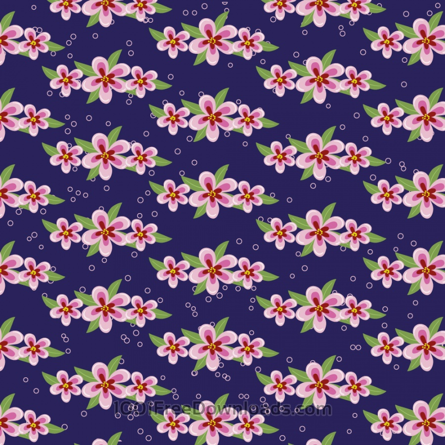 Free Vectors: Japanese patters with flowers | Abstract
