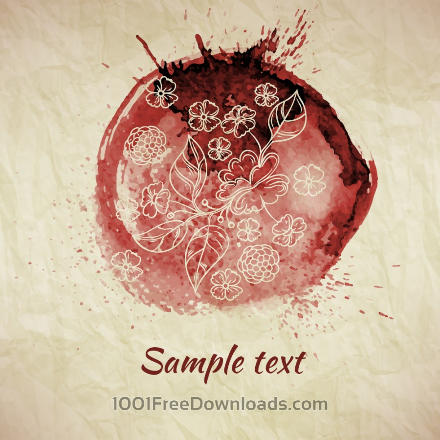 Free Watercolor illustration with paper texture