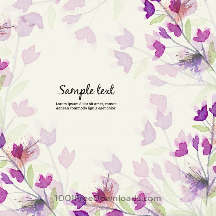 Free Vectors: Watercolor illustration with flowers | Backgrounds