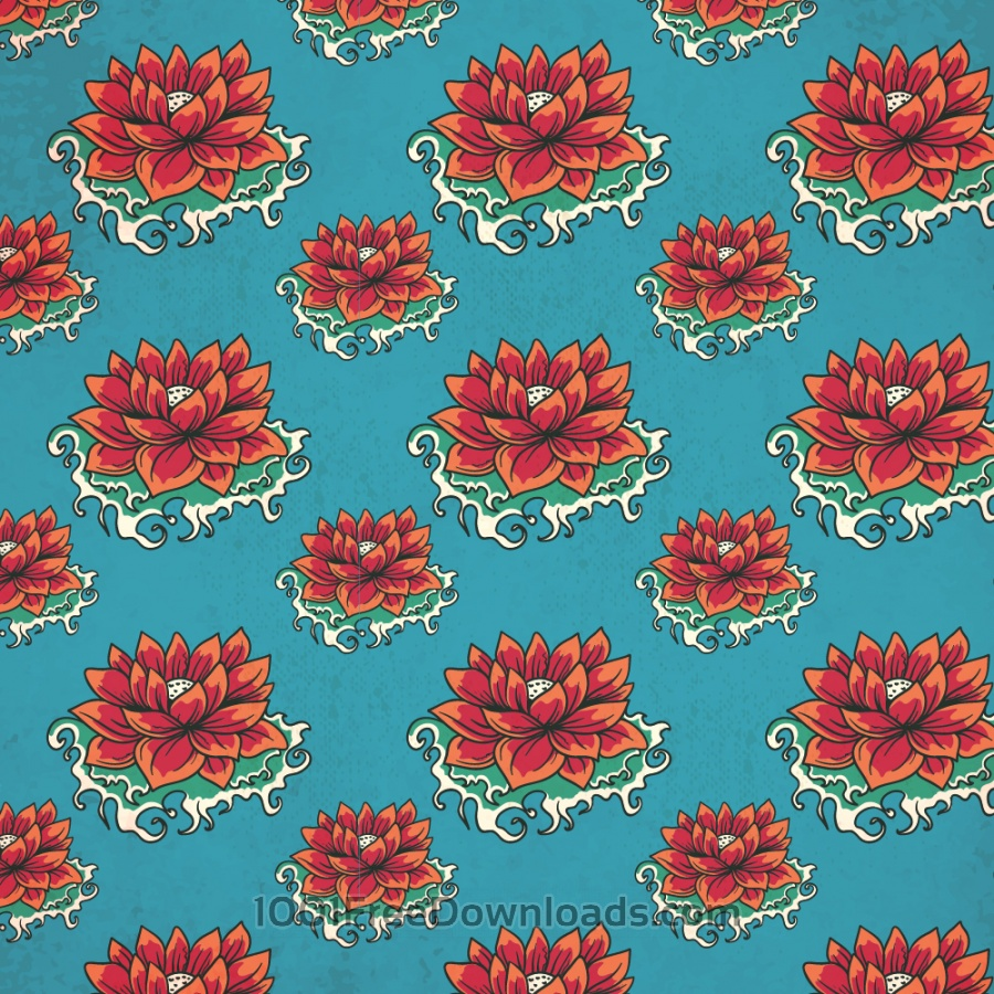 Free Vectors: Vintage japanese pattern with flowers | Patterns