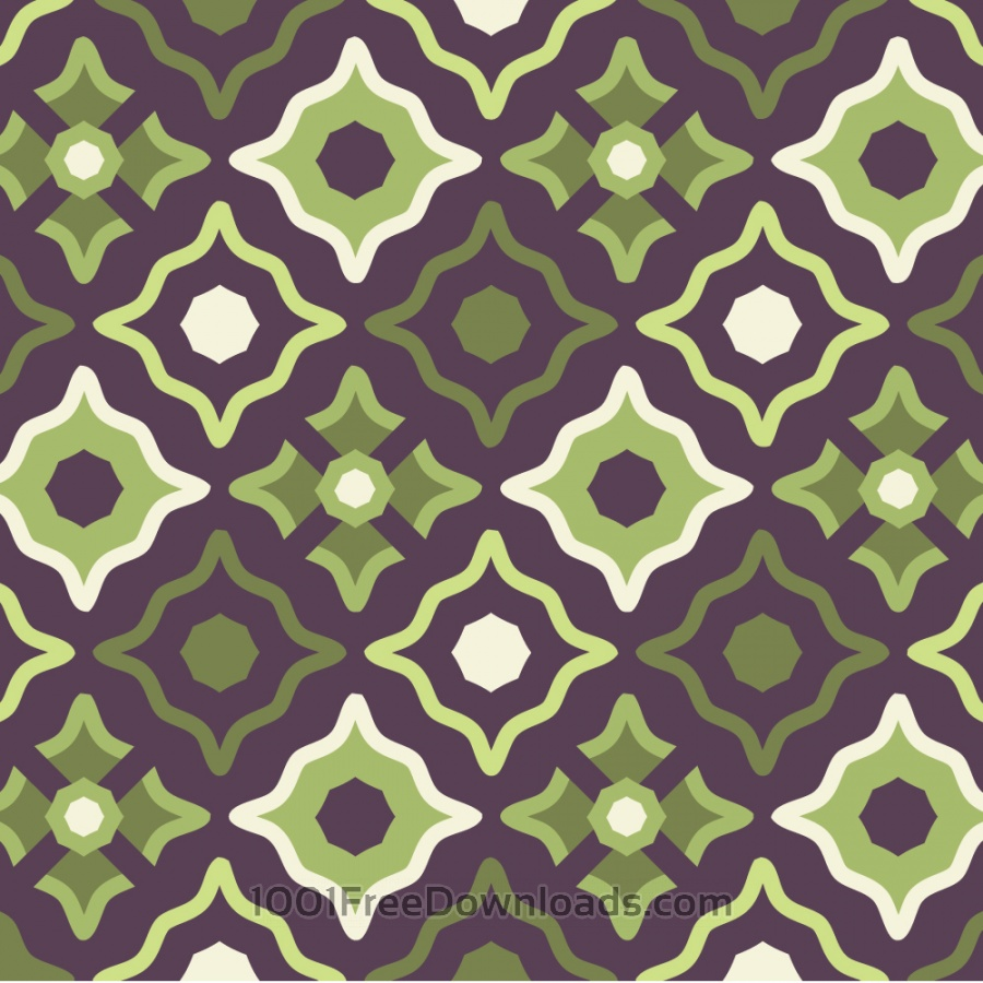 Free Vintage Purple Green and Cream Pattern