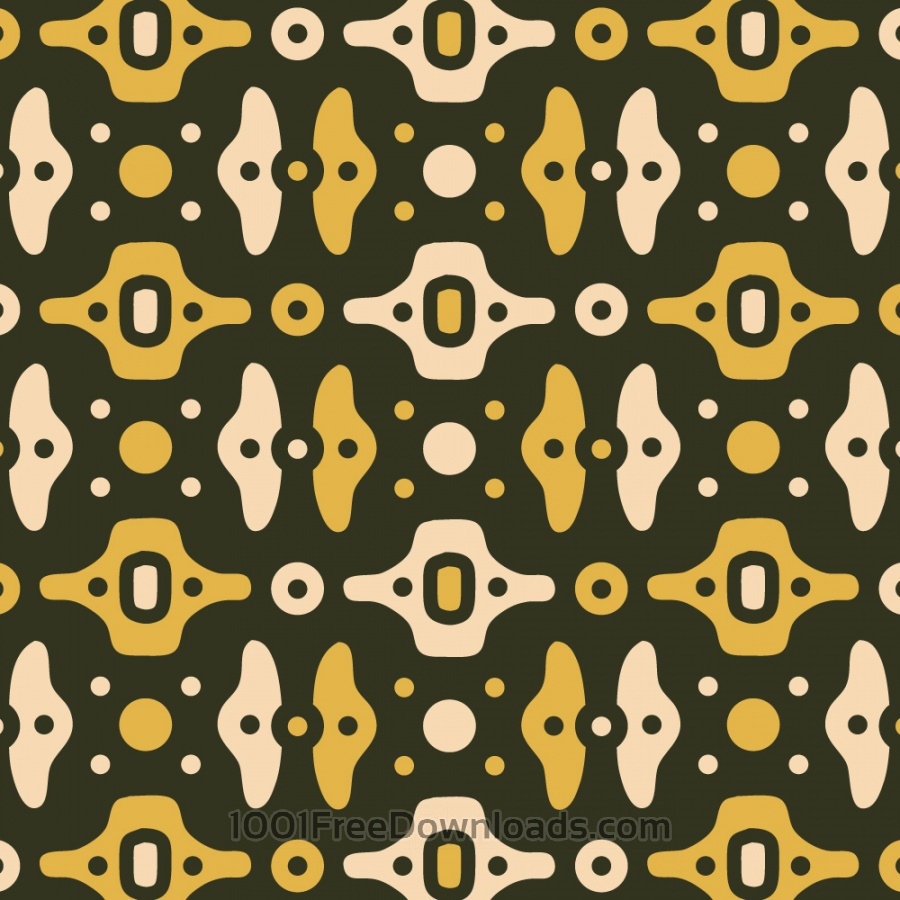 Free Mechanical Green, Yellow, and Cream Pattern