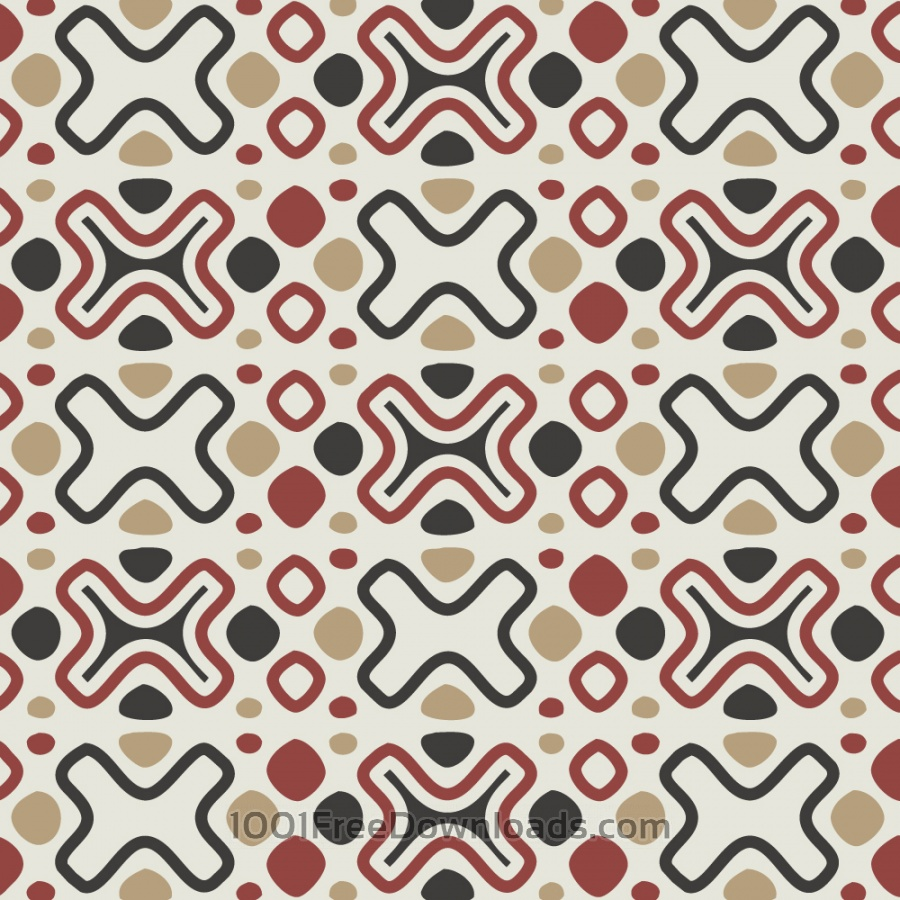 Free Tribal Red, Blue, and Cream Pattern