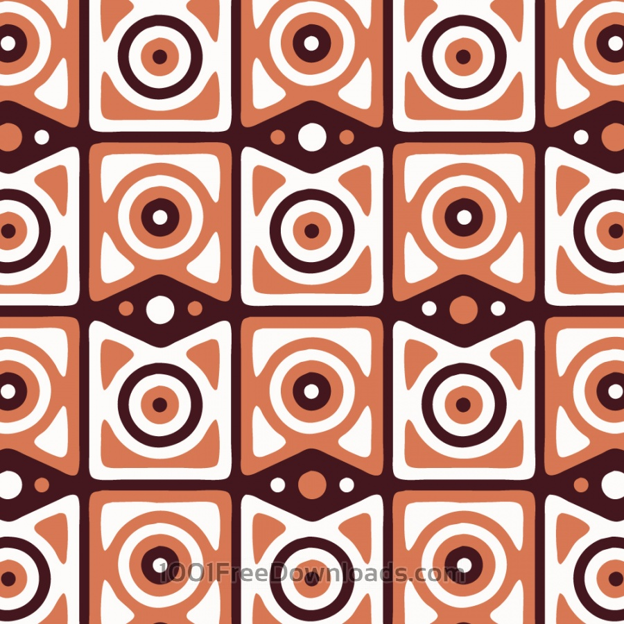 Free Retro Maroon, Orange, and White Pattern
