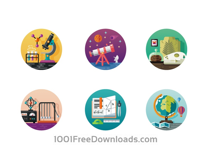 Free Vectors: Science icon pack | Art