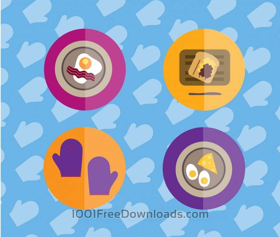 Free Vectors: Food objects for edsign. Vector illustrations | Objects