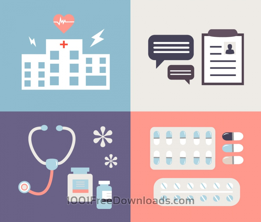 Free Medical objects for design. Vector illustrations